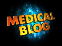 Concepto médico del blog en los antecedentes de Digitaces. Foto de archivo libre de regalías