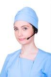 Concepto médico del centro de atención telefónica Imágenes de archivo libres de regalías