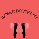 Concepto mínimo del vector para el día de la danza del mundo ilustración del vector