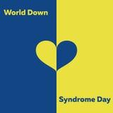 Concepto mínimo del vector para el día de Síndrome de Down del mundo Foto de archivo libre de regalías