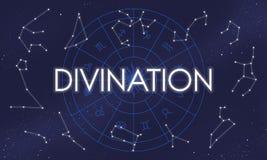Concepto místico santo de la creencia de la adivinación de la fortuna divina de la fe ilustración del vector