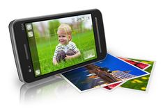 Concepto móvil de la fotografía Fotos de archivo libres de regalías