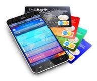 Concepto móvil de las actividades bancarias y de las finanzas