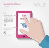 Concepto móvil de las compras Fotografía de archivo libre de regalías