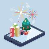 Concepto móvil del app Imagen de archivo libre de regalías