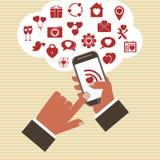 Concepto móvil del desarrollo del app del vector. Imágenes de archivo libres de regalías