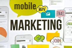 Concepto móvil del márketing Fotografía de archivo libre de regalías