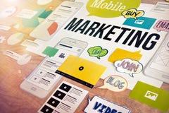 Concepto móvil del márketing Fotos de archivo libres de regalías