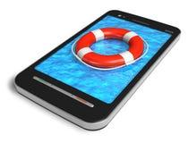 Concepto móvil del servicio de emergencia libre illustration