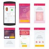 Concepto móvil plano del web UI para el móvil Foto de archivo