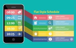 Concepto móvil plano del web UI para el móvil o la tableta nosotros Foto de archivo
