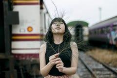 Concepto magnífico de Vogue de la belleza atractiva de la adolescencia fotos de archivo libres de regalías