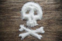 Concepto malsano del azúcar blanco imagenes de archivo