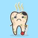 Concepto malsano del diente Imágenes de archivo libres de regalías