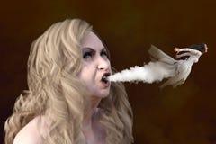 Concepto malvado de la bruja y del fantasma Fotografía de archivo