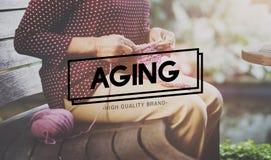Concepto mayor natural maduro de envejecimiento del adulto del cuidado Fotografía de archivo libre de regalías
