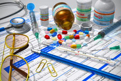 Concepto médico/de la farmacia Foto de archivo libre de regalías