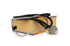 Concepto médico - estetoscopio Foto de archivo libre de regalías