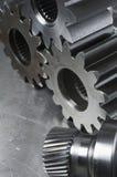 Concepto mecánico de los engranajes Foto de archivo libre de regalías