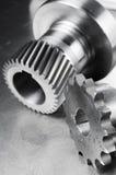 Concepto mecánico en negro/blanco imagen de archivo