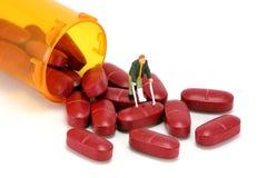 Concepto: Medicamentos de venta con receta Imagen de archivo libre de regalías