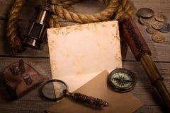 Concepto medieval de la aventura del mar Foto de archivo libre de regalías