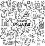 Concepto/metáfora del fracaso de negocio stock de ilustración