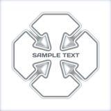 Concepto metálico de las flechas Imagenes de archivo
