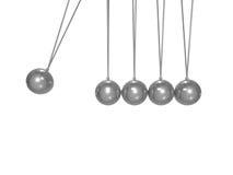 Concepto metálico en blanco del ímpetu con la trayectoria de recortes Fotos de archivo