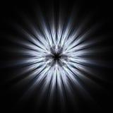 Concepto misterioso de fractal Art With Circle Waves Fotos de archivo libres de regalías