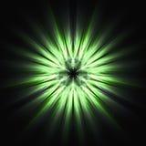 Concepto misterioso verde de arte del fractal Fotografía de archivo
