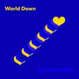 Concepto mínimo del vector para el día de Síndrome de Down del mundo Imagen de archivo