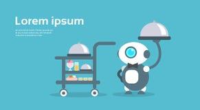 Concepto moderno de Artificial Intelligence Technology del camarero del robot Imagen de archivo