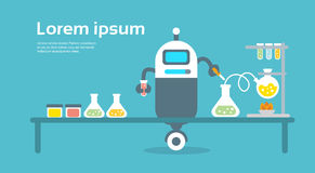 Concepto moderno de Artificial Intelligence Technology del científico del robot Fotografía de archivo