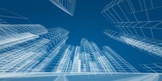 Concepto moderno de la ciudad ilustración del vector