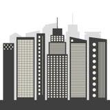 Concepto moderno de la ciudad del negocio Fotos de archivo libres de regalías