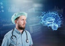Concepto moderno de la neurología de la medicina imagen de archivo libre de regalías