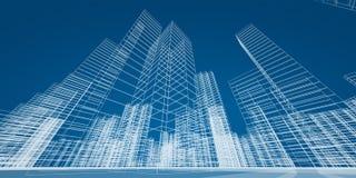 Concepto moderno de los rascacielos Imagen de archivo libre de regalías