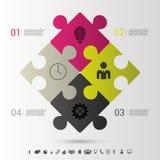 Concepto moderno del negocio del infographics del rompecabezas Vector ilustración del vector