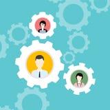 Concepto moderno del negocio, la idea del trabajo en equipo y éxito plano Fotos de archivo