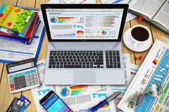 Concepto moderno del trabajo del negocio Imagen de archivo