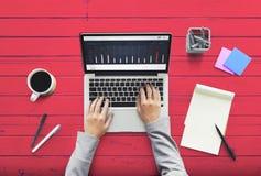 Concepto moderno mínimo del escritorio contemporáneo del diseño foto de archivo