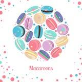 Concepto multicolor de los macarrones Foto de archivo libre de regalías