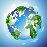 Concepto mundial del centro turístico Fotos de archivo libres de regalías