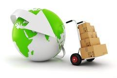 concepto mundial del comercio 3d libre illustration