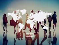 Concepto mundial del envío del transporte del negocio del márketing imagenes de archivo