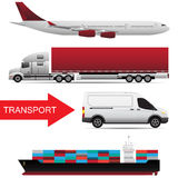 concepto mundial del vector del transporte de cargo Foto de archivo libre de regalías