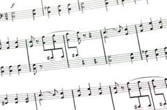 Concepto musical - hoja de música Imagen de archivo libre de regalías