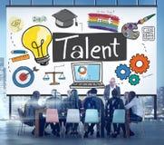 Concepto natural de las habilidades del empleo de la habilidad de la experiencia del talento imagen de archivo
