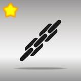 Concepto negro de cadena del símbolo del logotipo del botón del icono de alta calidad Imagen de archivo libre de regalías
